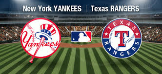 yankees vs texas rangers